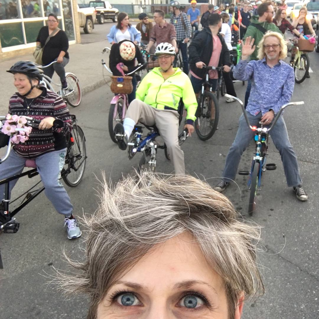 Slow Roll bike gang