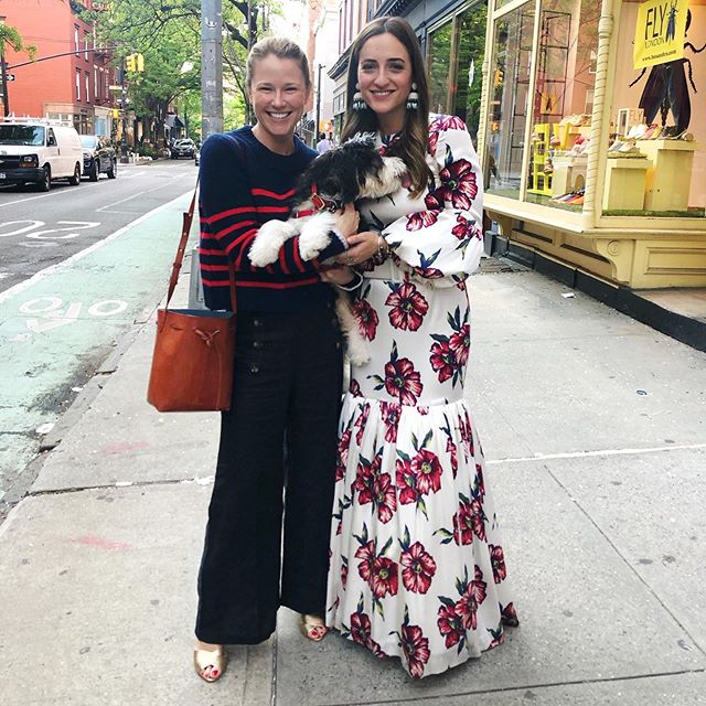 Having a ♥️ time with this fabulous lady, her gorgeous pop-up shop and little Heidi! (A must see at 373 Bleecker Street) @landofbelle @rac.lifestyle 🌷