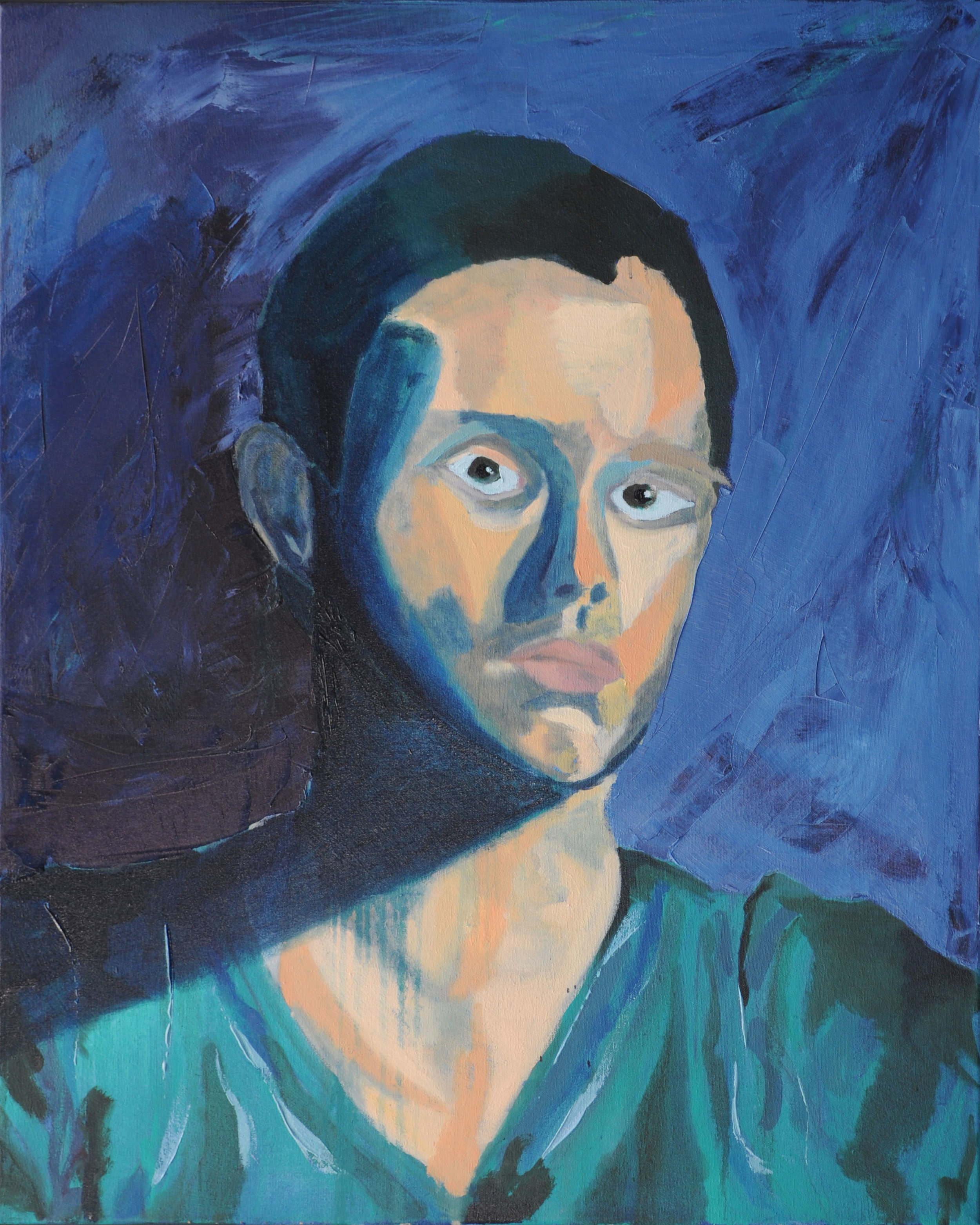 Self Portrait  Oil on Canvas  24 inches x 30 inches