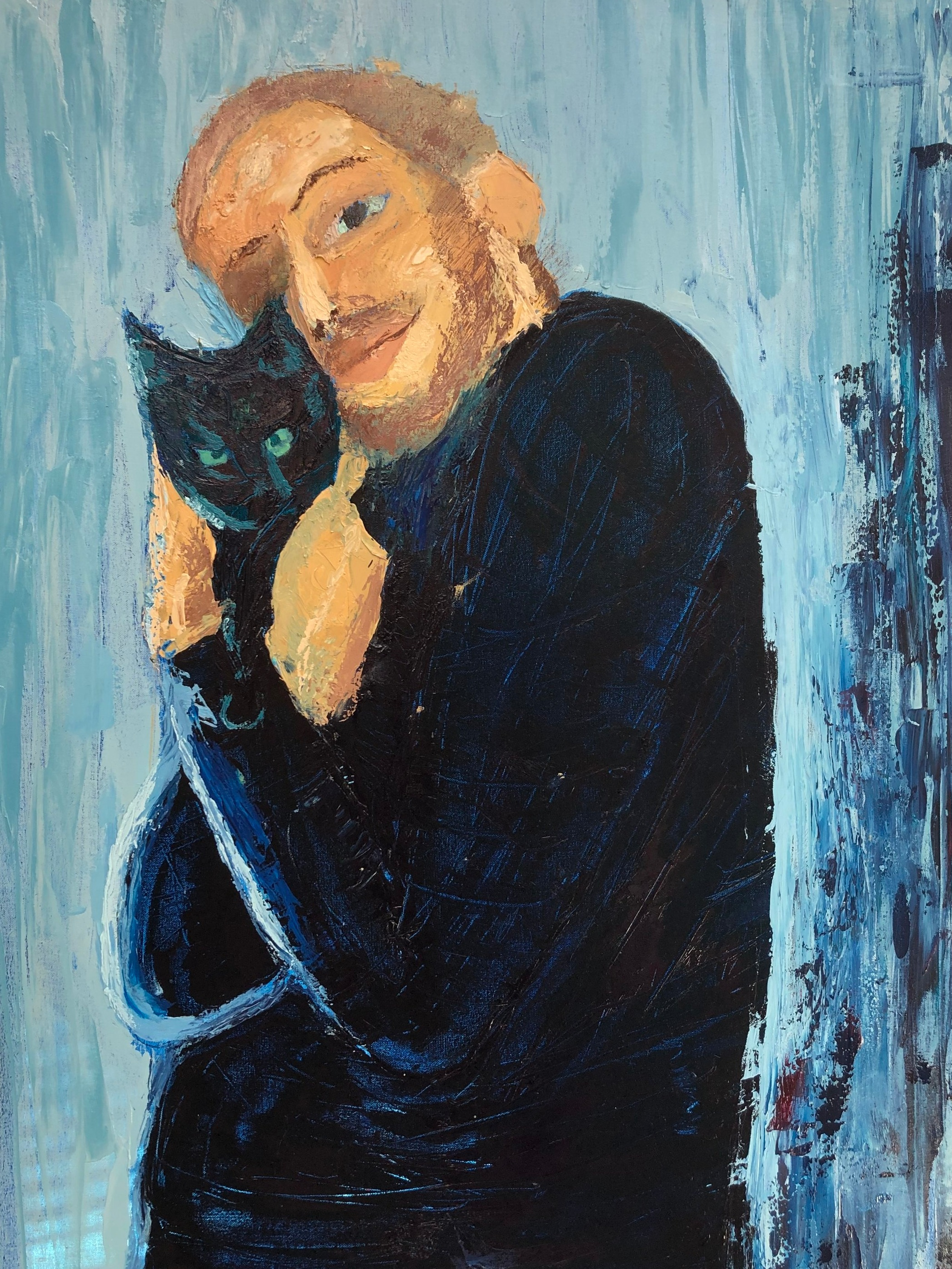 James  Oil on Canvas  36 inches x 46 inches