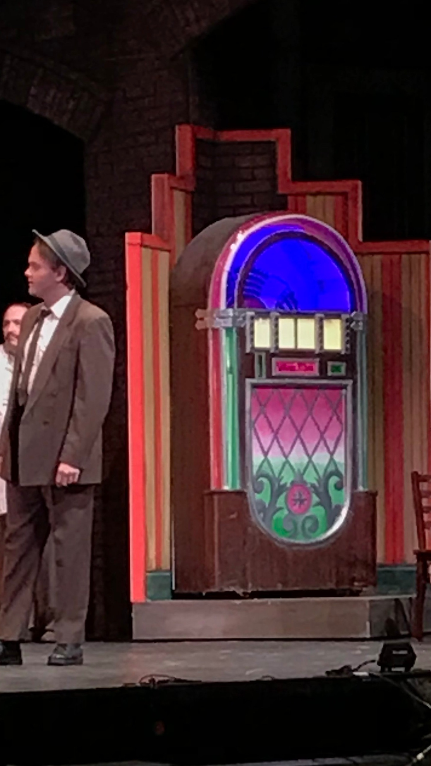 Hand-painted Jukebox Insert   West Side Story   Utah Festival Opera and Musical Theatre, 2019
