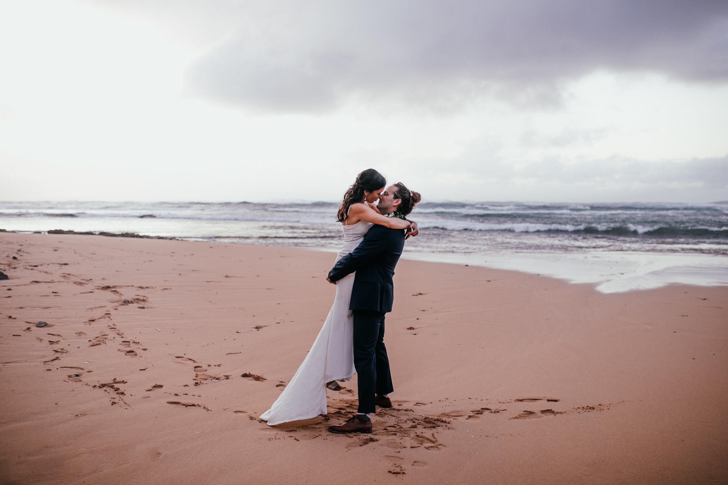 Oahu Hawaii wedding adventure elopement Emily Choy Photographer