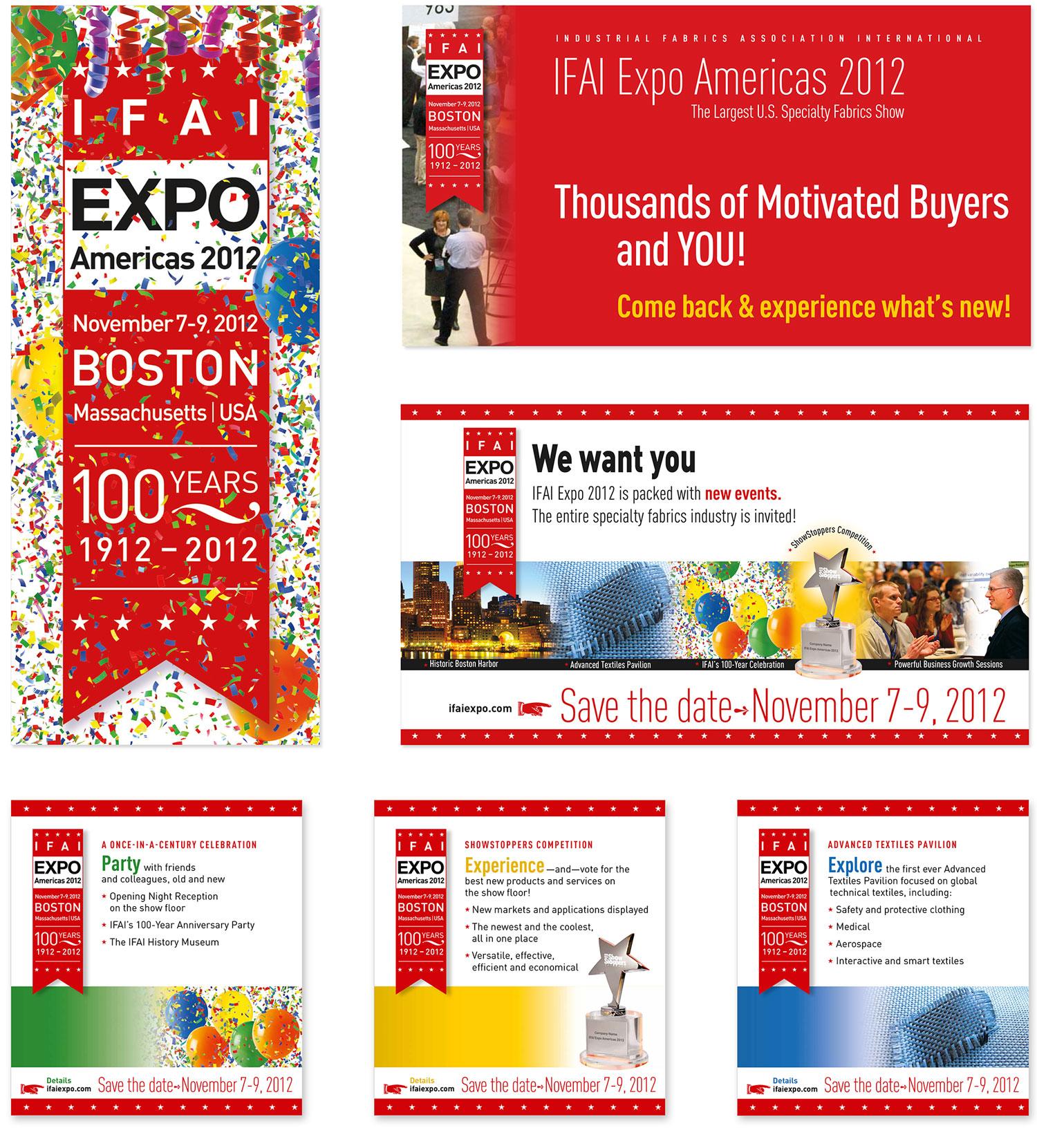 Opening night party invitation, postcard, three magazine advertisements