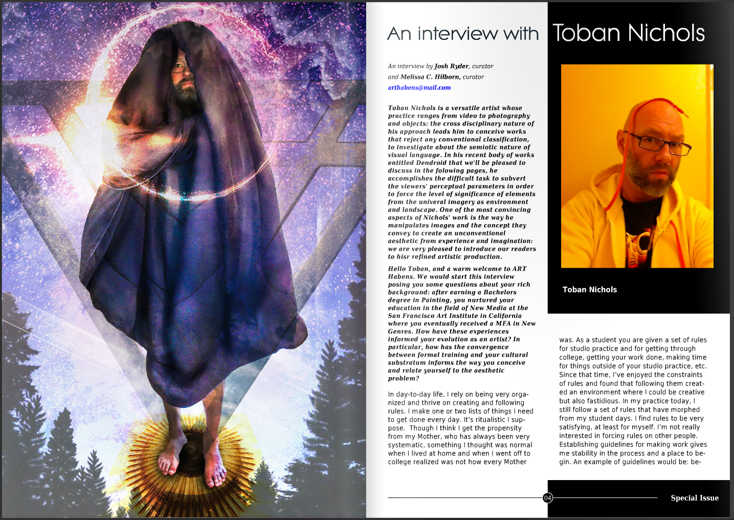 Interview.  ART Habens Art Review , Special Edition. 2016.