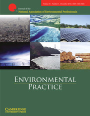 """- Ard, Kerry and Paul Mohai. 2011. """"Hispanics and Environmental Voting in the U.S. Congress."""" Environmental Practice. 13(4): 302-313."""