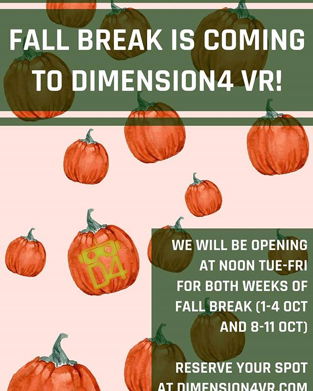 Daytime hours are back at Dimension4! Reserve your spot today!