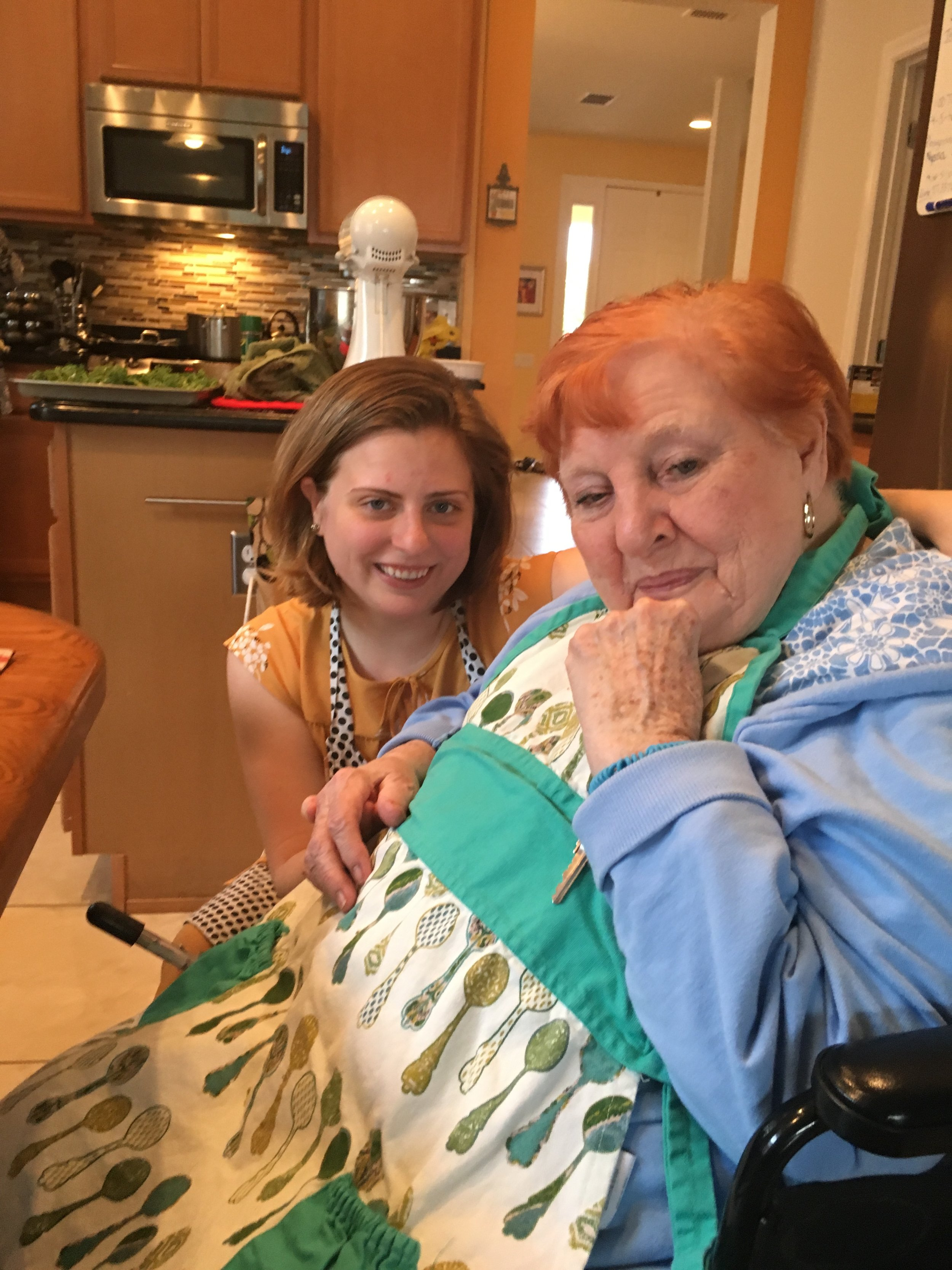 Showing the masses how authentic I am by posing with my 93 year old Nana. (J/K everyone. I just really love my Nana and wanted to share this cute pic of us because Nana is #goals. Eyeliner, red hair, signature pose... YAS QUEEN!