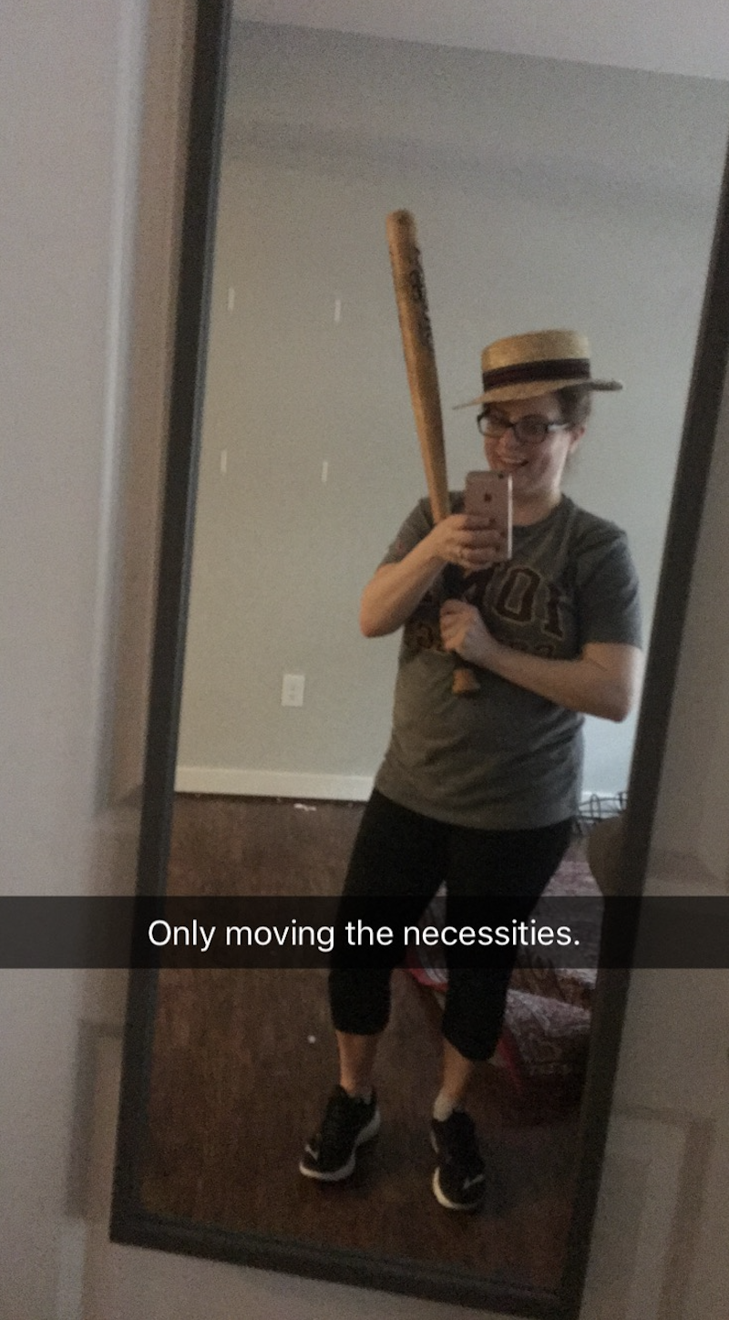 Shot from the move. Kept the bat and the mirror, ditched the sexy hat and rug.