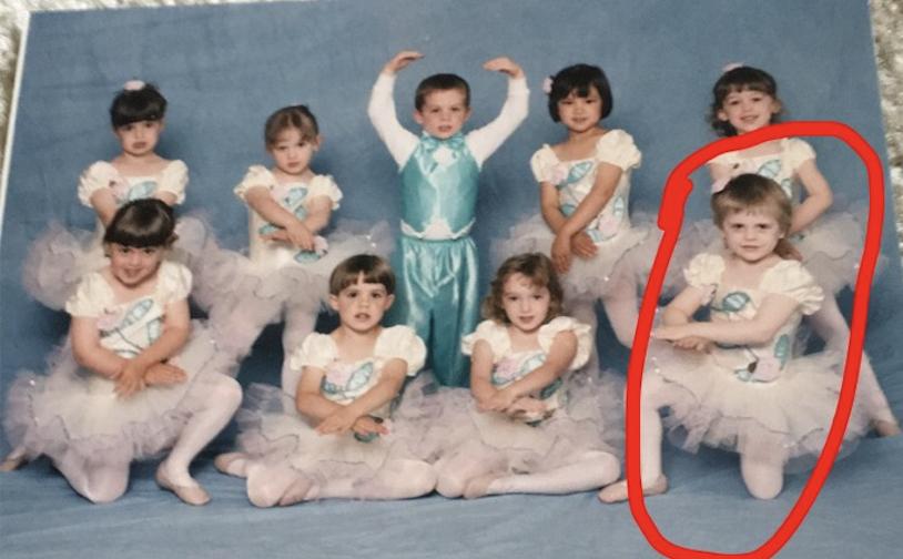 Baby Courtney balanced like a ballerina BOSS!