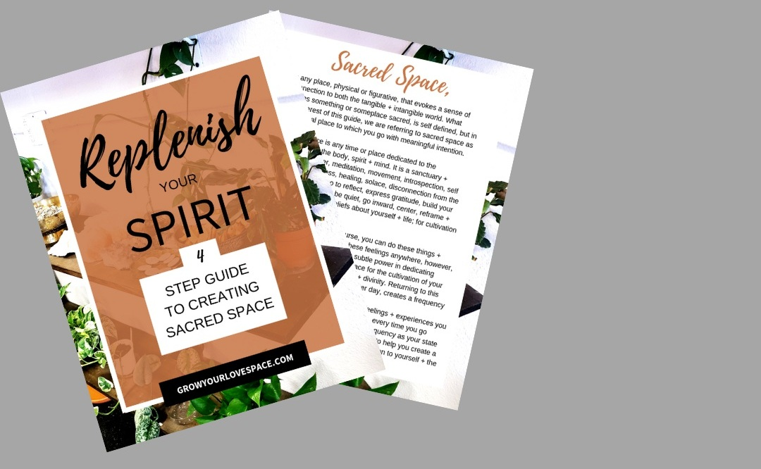 Sign up for our monthly newsletter and immediately get this beautiful, supportive guide, that takes you through four meaningful steps to create peace in your daily life. - The monthly newsletter includes updates, life insights, playlists + tangible tools to help you create a vibe of intention + growth throughout your month!