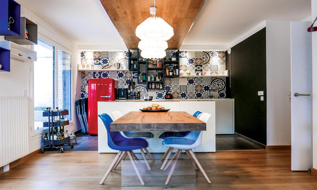 KITCHEN & LIVING ROOM RESIDENTIAL PARIS  // INTERIOR DESIGN