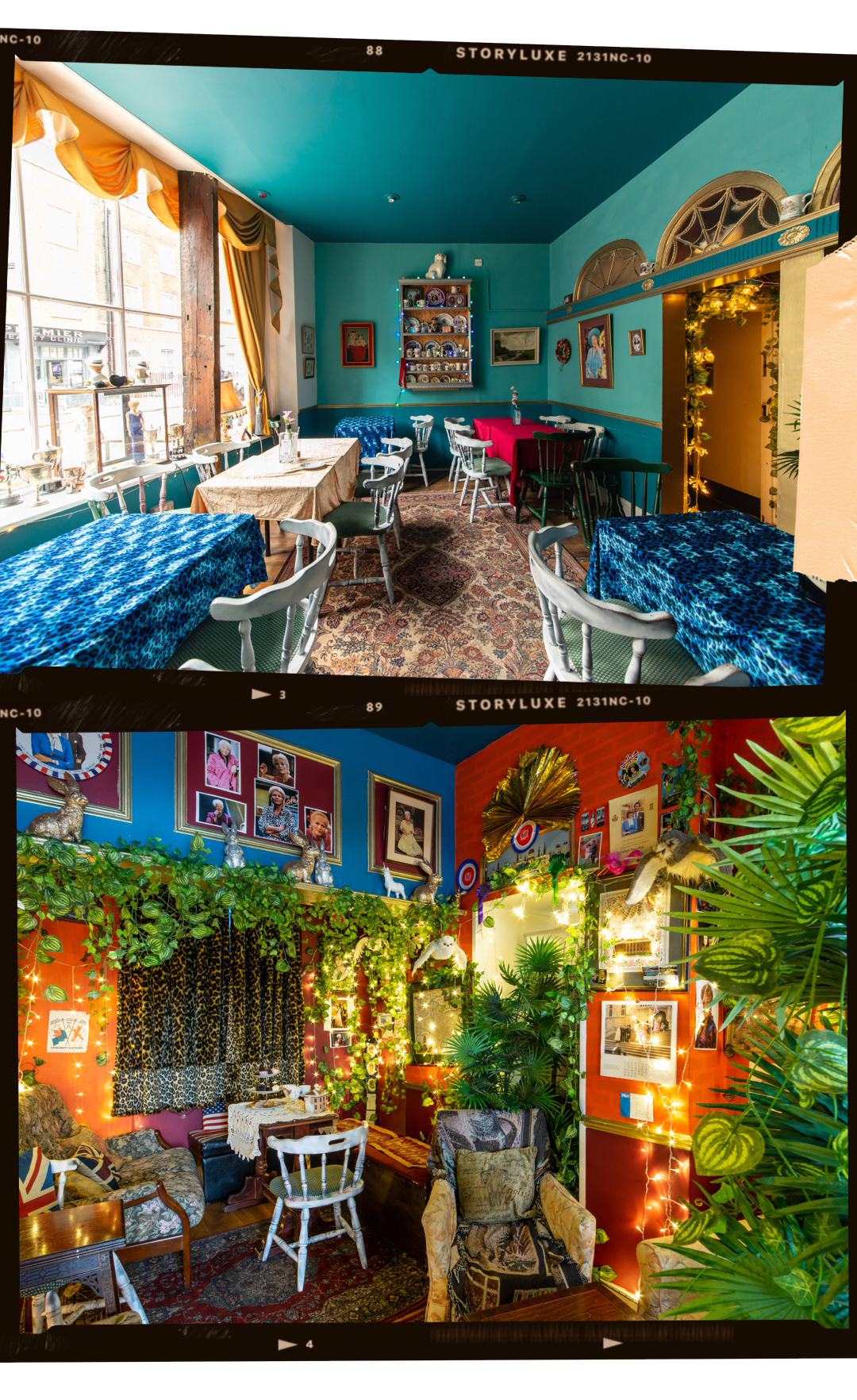 """LITTLE NAN'S FITZROVIA KITCHEN & BAR - Little Nan's is possibly the most eclectic venue in London. The mixture of kitsch, vintage and antique (described as Royal Kitsch) creates a cosy atmosphere, perfect for evening drinks or afternoon tea. Our favourite bit? On the food menu, you'll even spot """"Fitzrovia Disco Fries"""".Location:20-21 Warren Street, W1T 5LT"""
