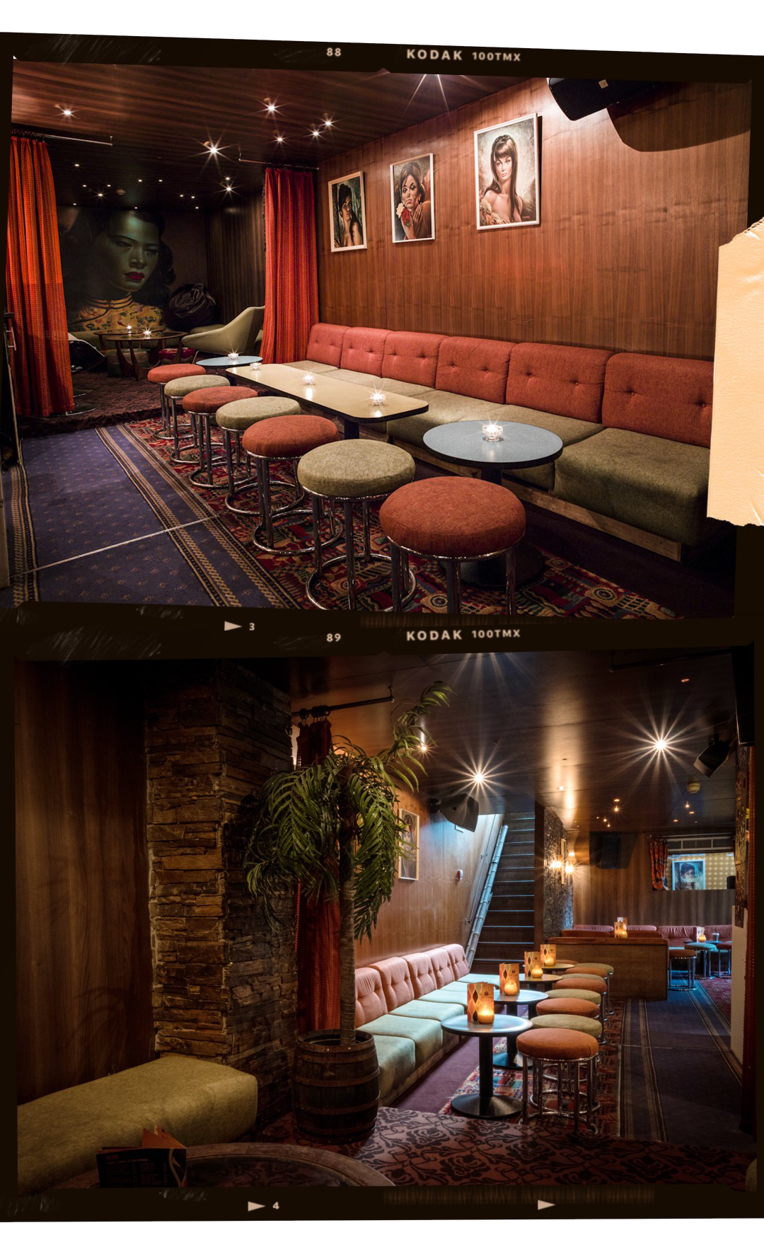 TRAILER HAPPINESS - Described as a rum lounge, the bar is a mixture of retro, kitsch and tiki decor. This cosy basement bar also serves award-winning cocktails that are far from boring. Be sure also to check out their Caribbean snacks.Location:177 Portobello Road, W11 2DY