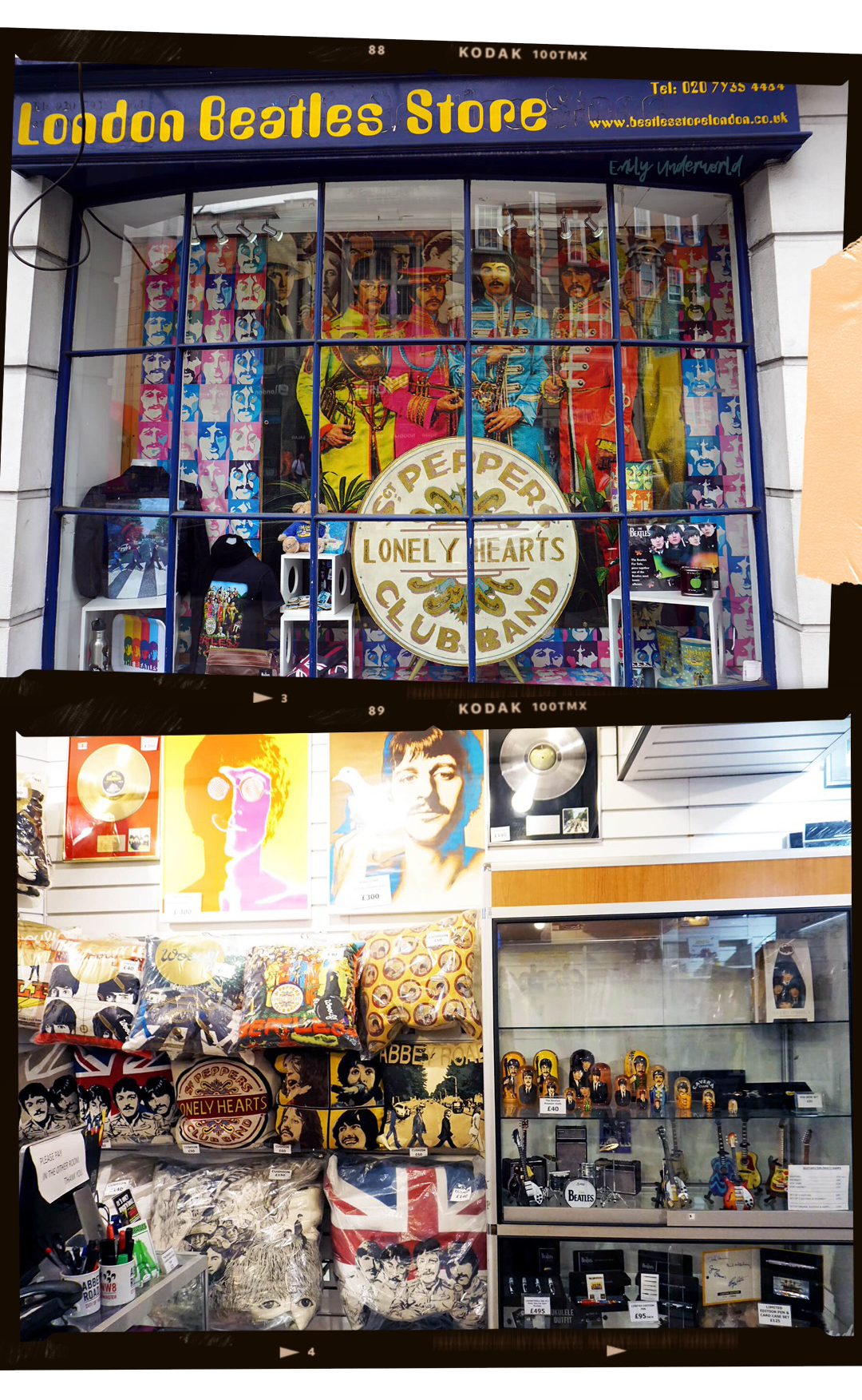 LONDON BEATLES STORE - Heaven for all Beatles fans! The insides of the store hold some of the most random Beatles memorabilia, from suitcases to branded lava lamps. Even if you decide not to buy more useless souvenirs, the shop is just a funky place to check out. The shop also holds a small selection of autographs ranging from £900 to £6000 (yup, because we obviously have that kind of money).Location:231-233 Baker St, Marylebone, NW1 6XE