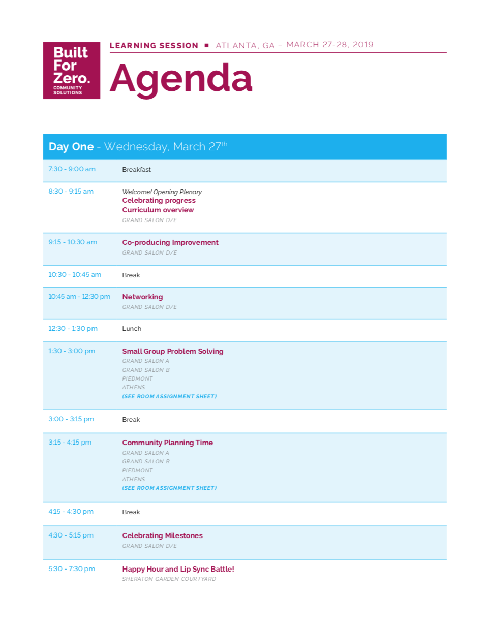 View the Agenda (PDF) -