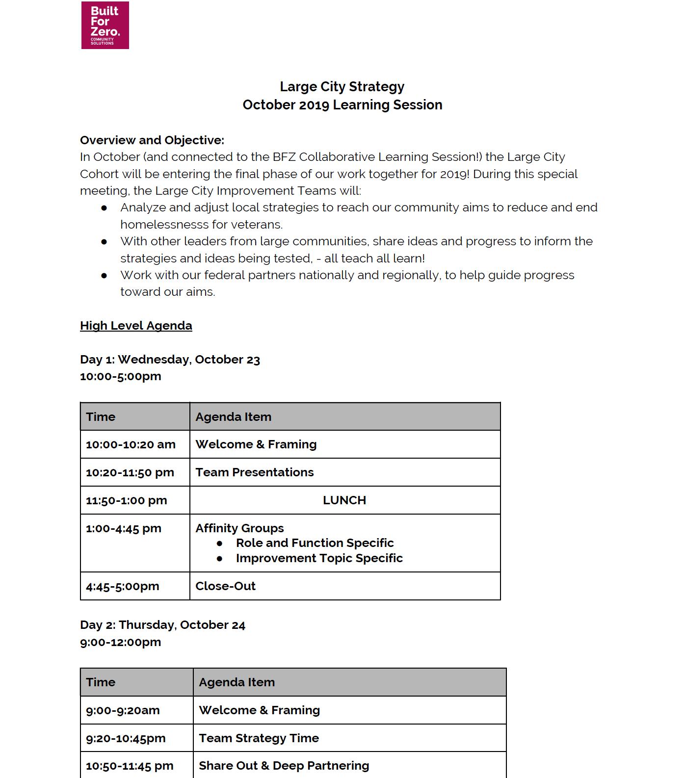 View Large City Agenda (PDF) -