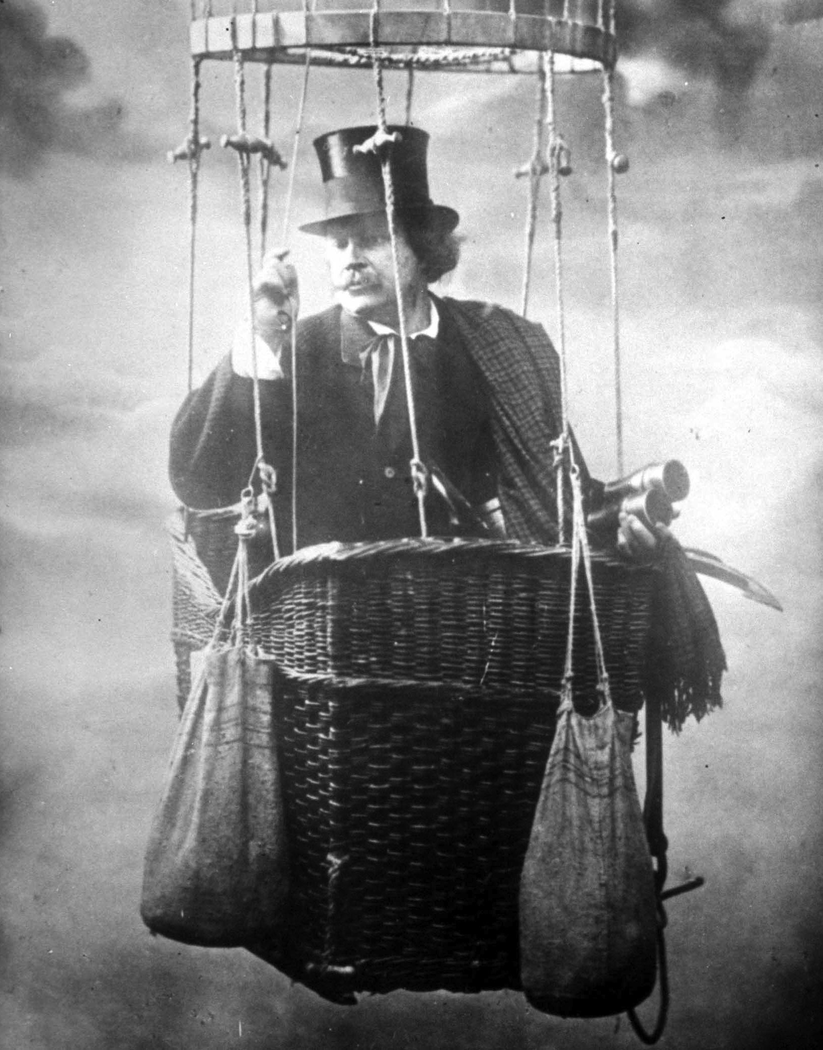 The French photographer and balloonist Gaspard-Félix Tournachon, widely known as Nadar (posing in a studio).