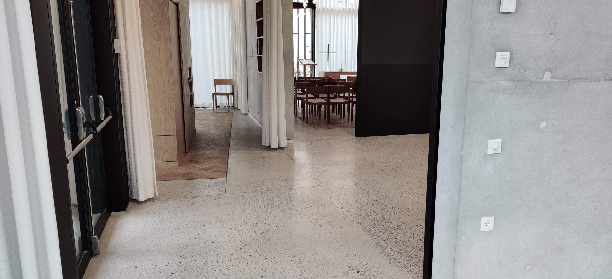 Slebet betongulv, Center For Fordybelse og Tro, Herlev Hospital - Udført i samarbejde med Dansk Belægningsentreprise