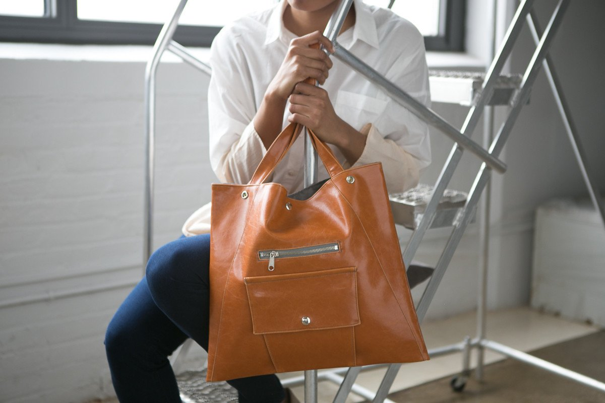 Métier Tote in Butterscotch by Crystalyn Kae;  Photo by    Christina Domingues
