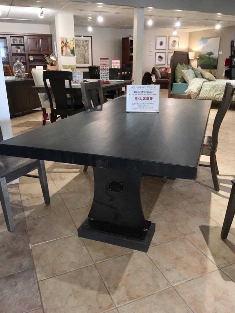 "42""x84"" Solid Top. 2.5"" Thick Dining Table. Now Only $4,259"