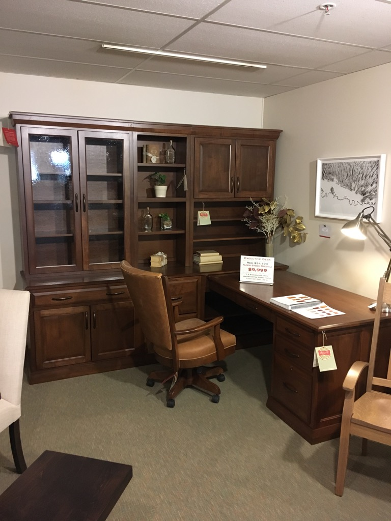 Executive Desk with Leather Office Chair, Now Only $9,999
