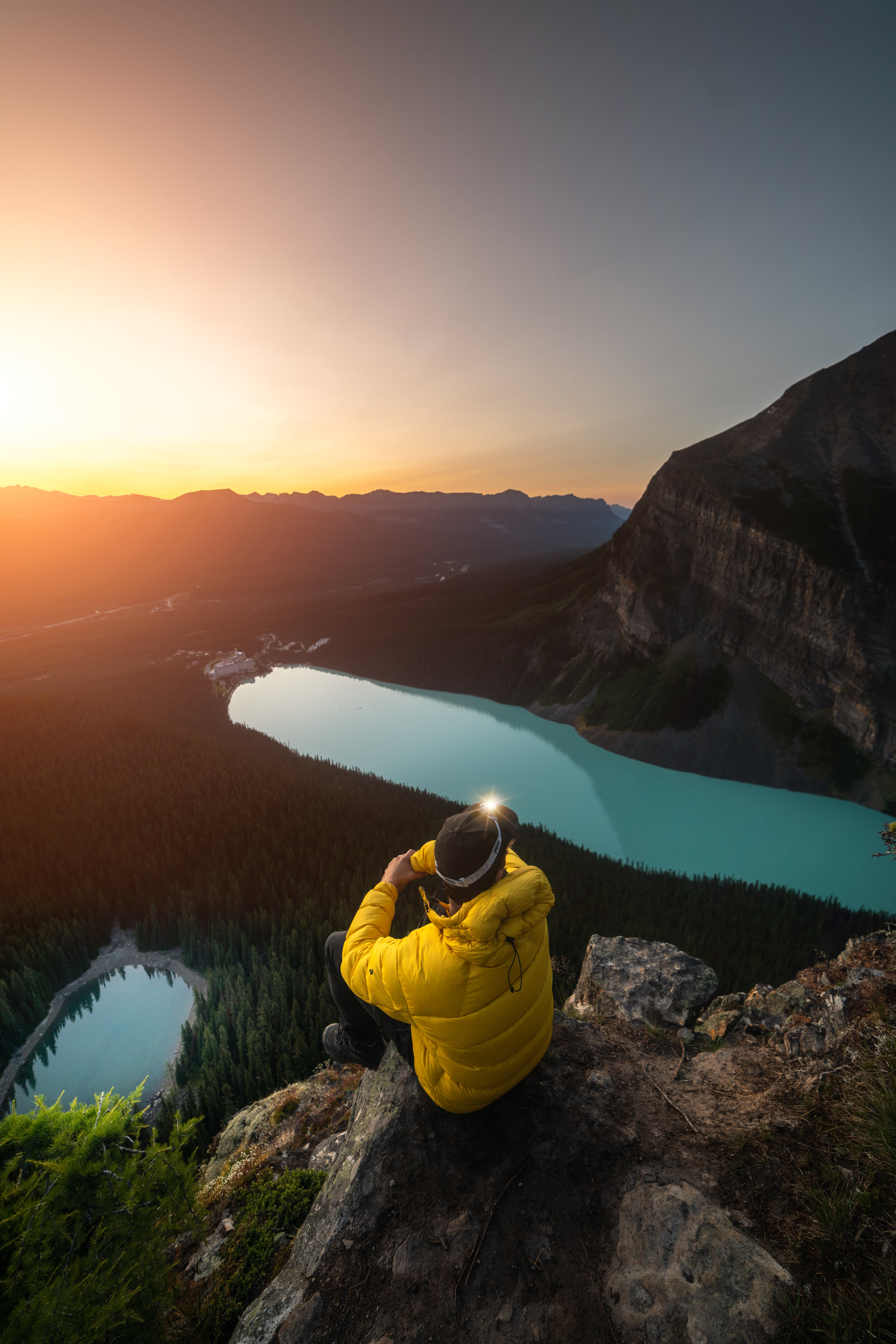Watch the sun rise over the Canadian Rockies -