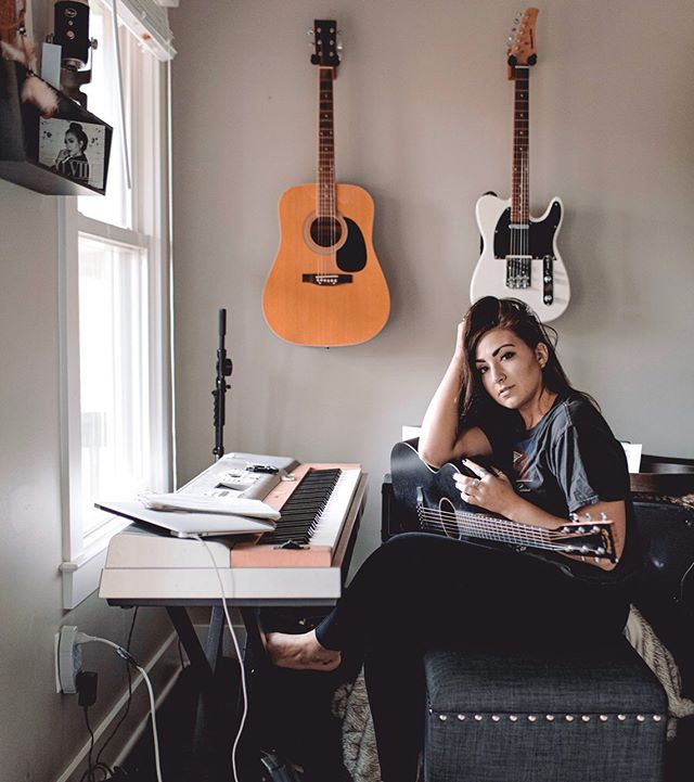 Here's a peek into my happy place thanks to @balakaywilson 📸 come hear some of what I've been writing in this happy place of mine... I'll be playing @revival615 tomorrow night at Tin Roof. - - - - - #morganwhitneymusic #singer #songwriter #brunettes #happyplace #nashville #guitarlove #girlswhorock #martinguitars #sunshine #songsgalore #creativespace