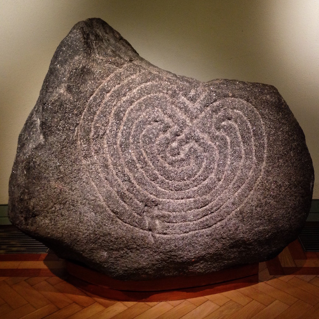 Labyrinth Stone, Glendalough, Co. Wicklow, Ireland