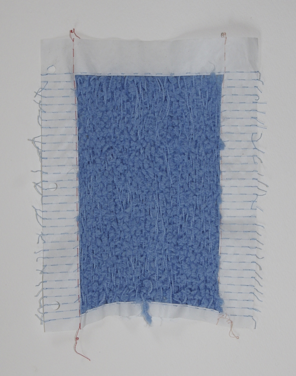Form and Content , 2014, yarn and loose leaf paper