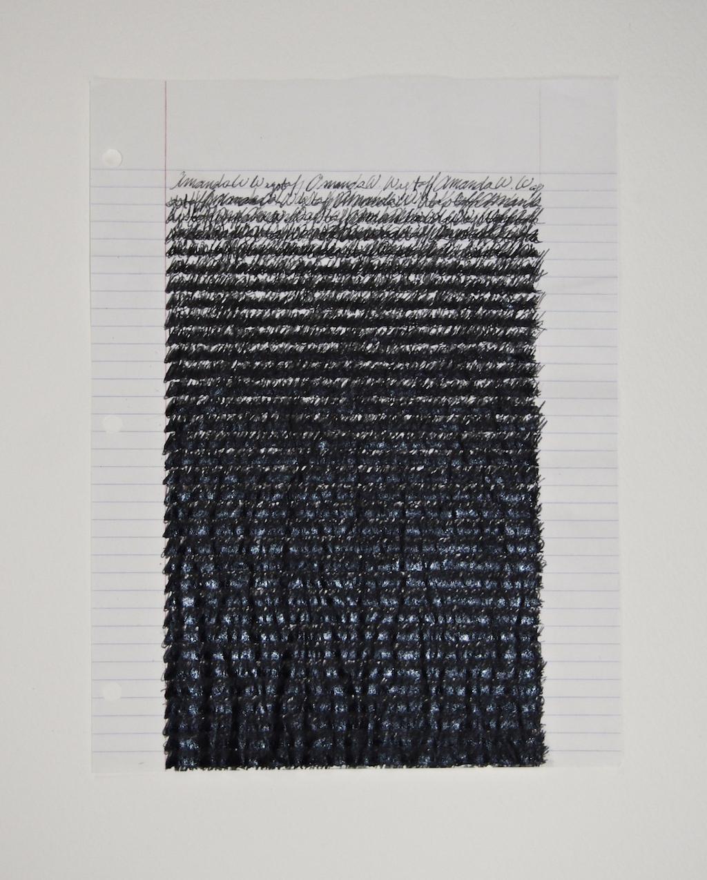 Amanda W. Wagstaff , 2014, ink on loose leaf paper