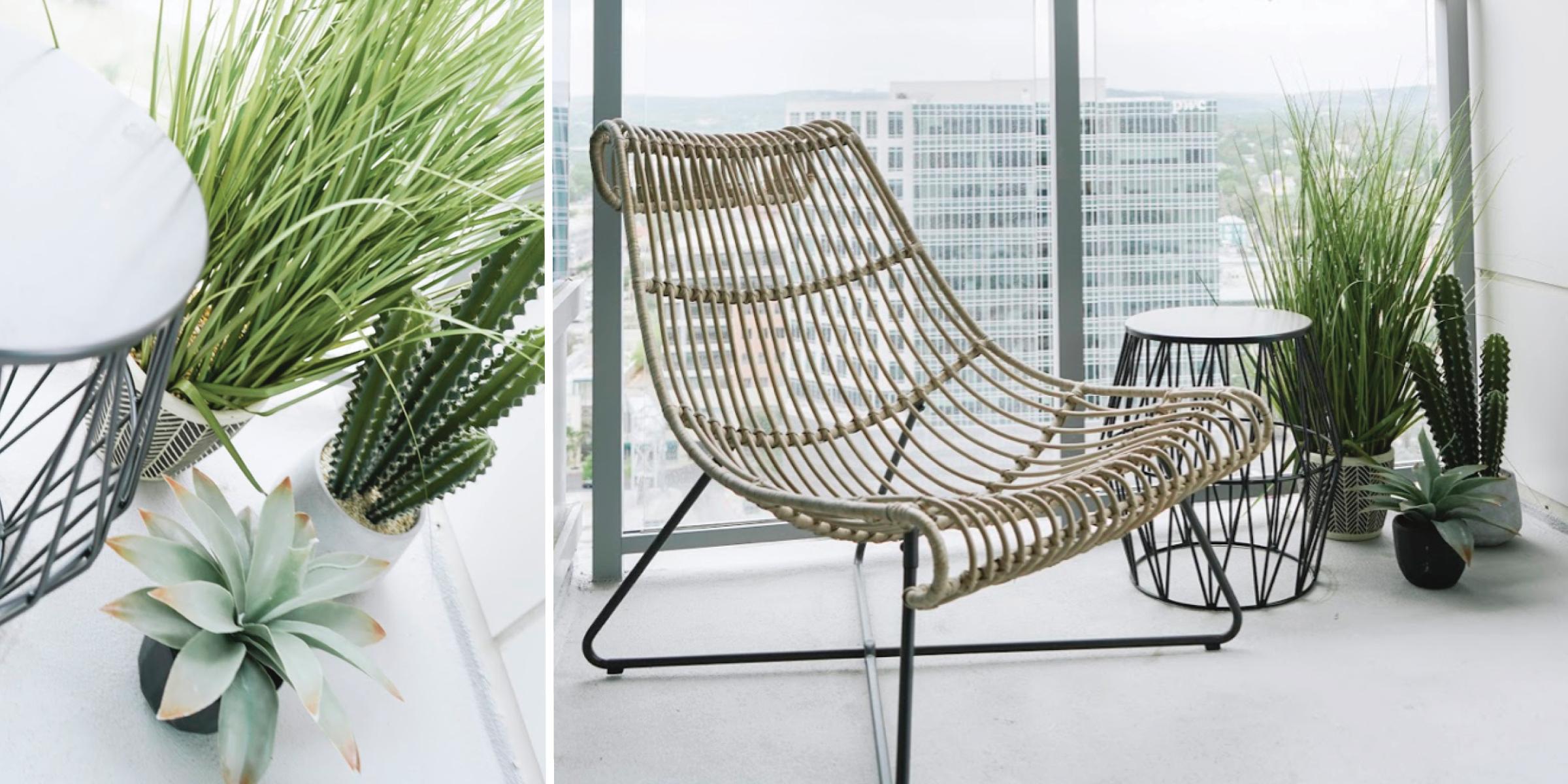 outdoor living apartment balcony