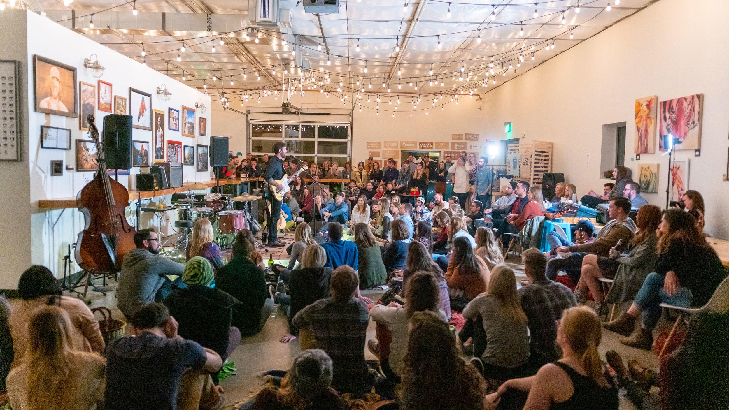 Sofar show at Wayfinder Co-op