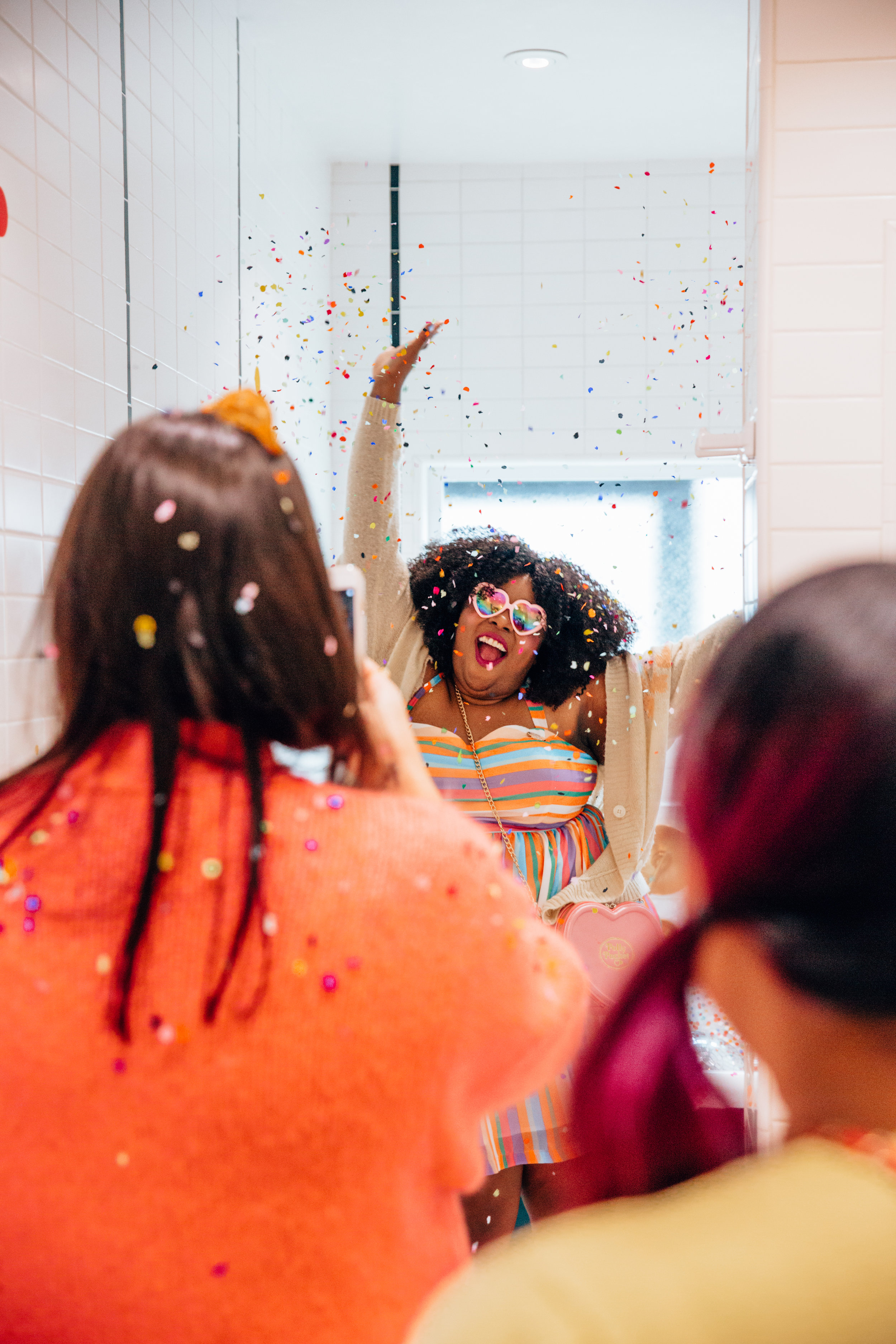 Throw your hands up in the air! We're living our best party life with Amina from  @studiomucci !