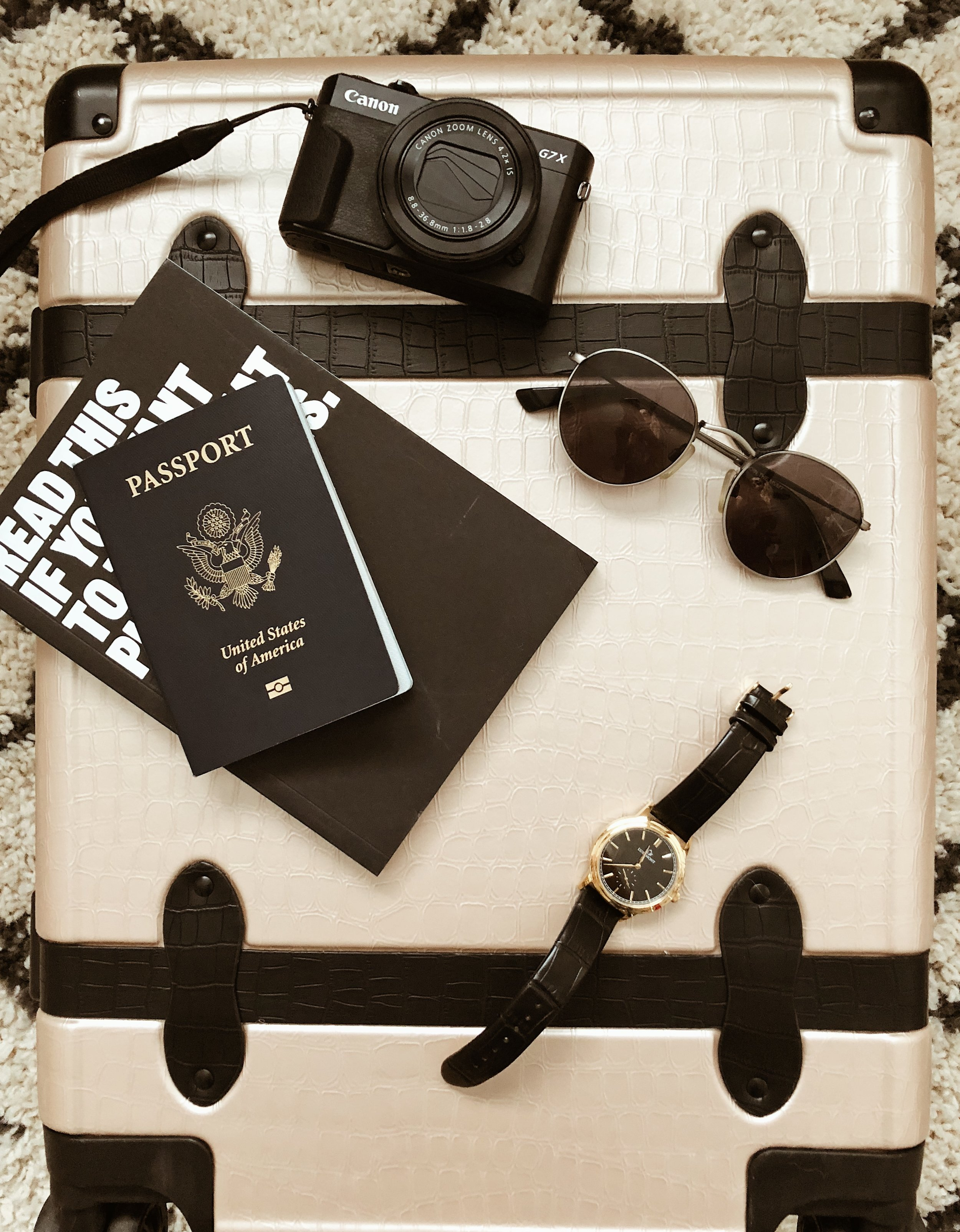 @thestyleseed's travel essentials on CALPAK's Trnk luggage.