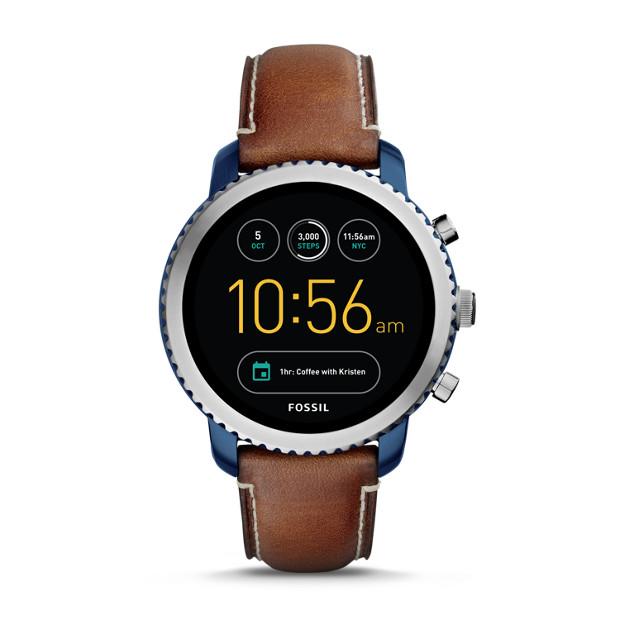Fossil Gen 3 Smartwatch - Q Explorist Luggage Leather  - $255.00