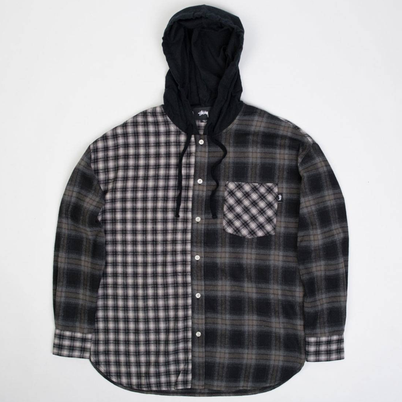 Stussy Women Cashed Hooded Flannel