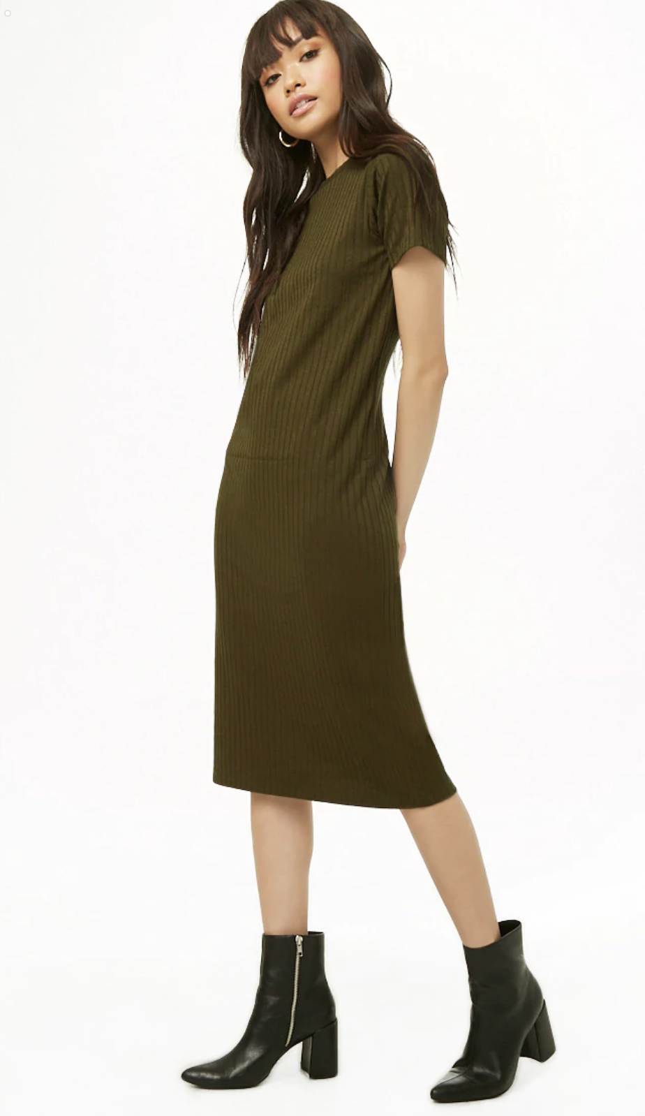 Forever21 Ribbed Knit T-Shirt Dress