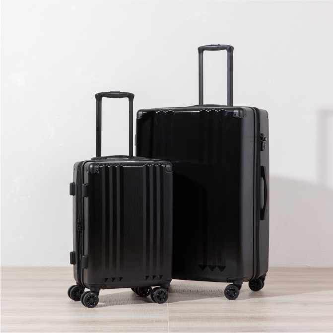 Ambeur 2-Piece Luggage Set - Black