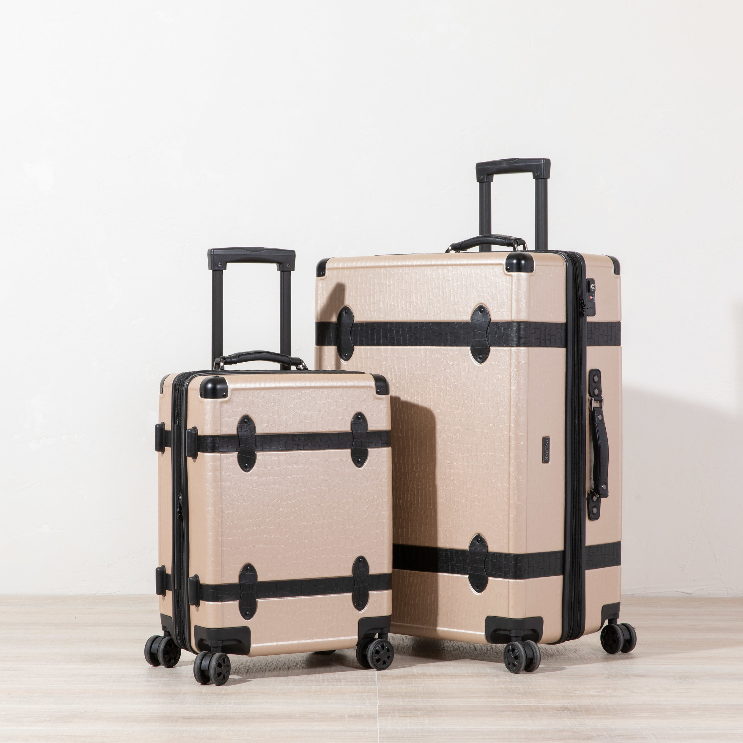 2 Pc. Trnk Luggage - Nude -