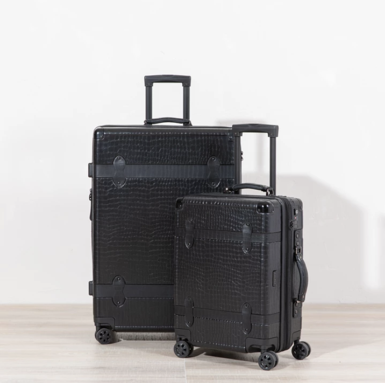 2 Pc. Trnk Luggage -On - Black -