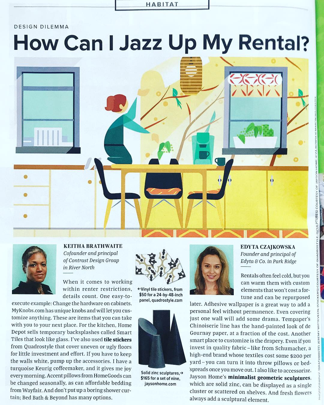 Chicago Magazine September 2018 How Can I Jazz up My Rental.JPG