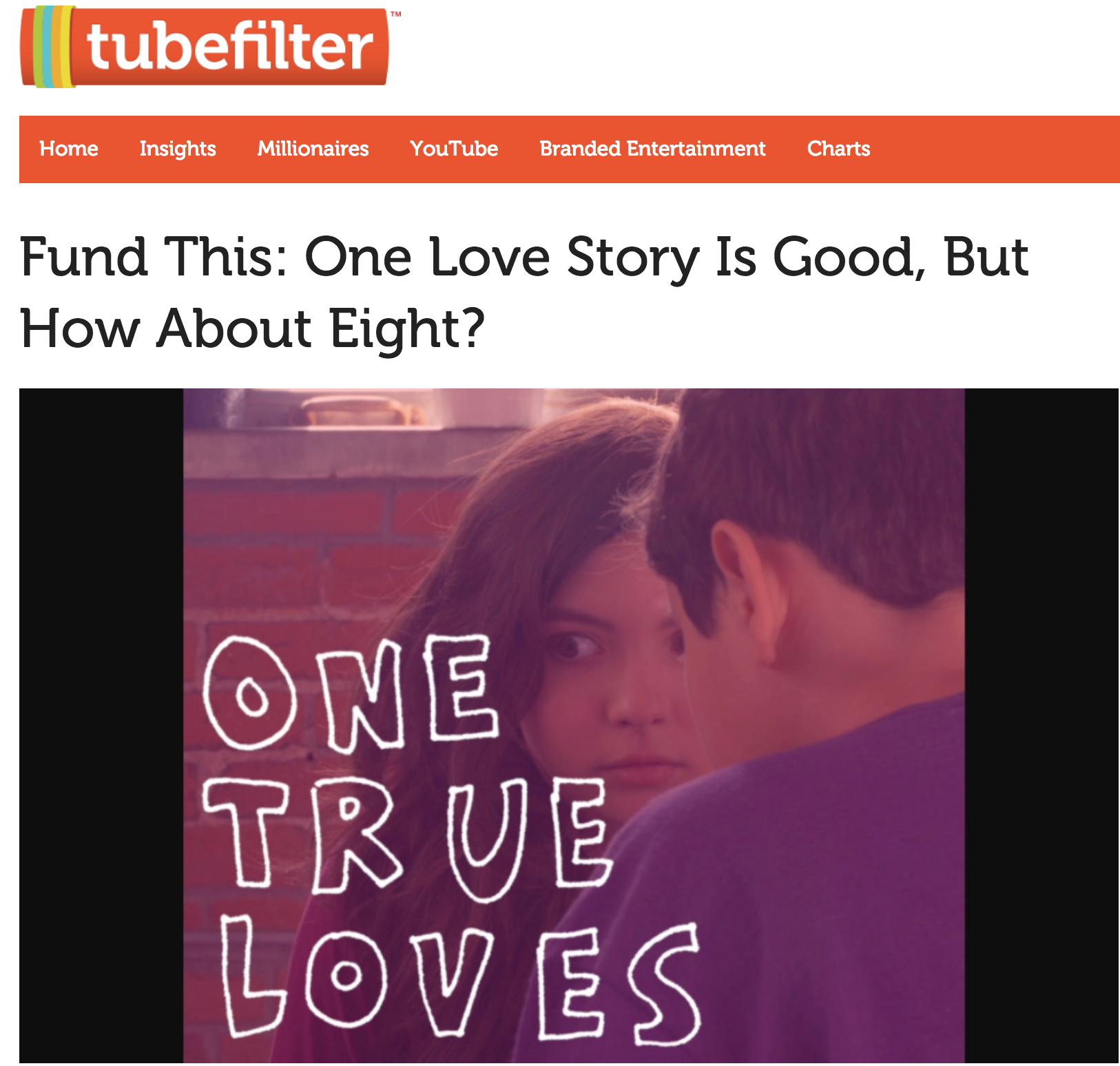 Fund This: One Love Story Is Good, But How About Eight? -