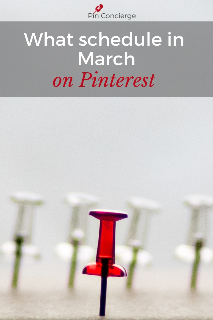 Schedule these kinds of pins in March and check out the latest Pinterest news for your Pinterest Marketing on the Pin Concierge Podcast #pinterestmarketing #pinconcierge