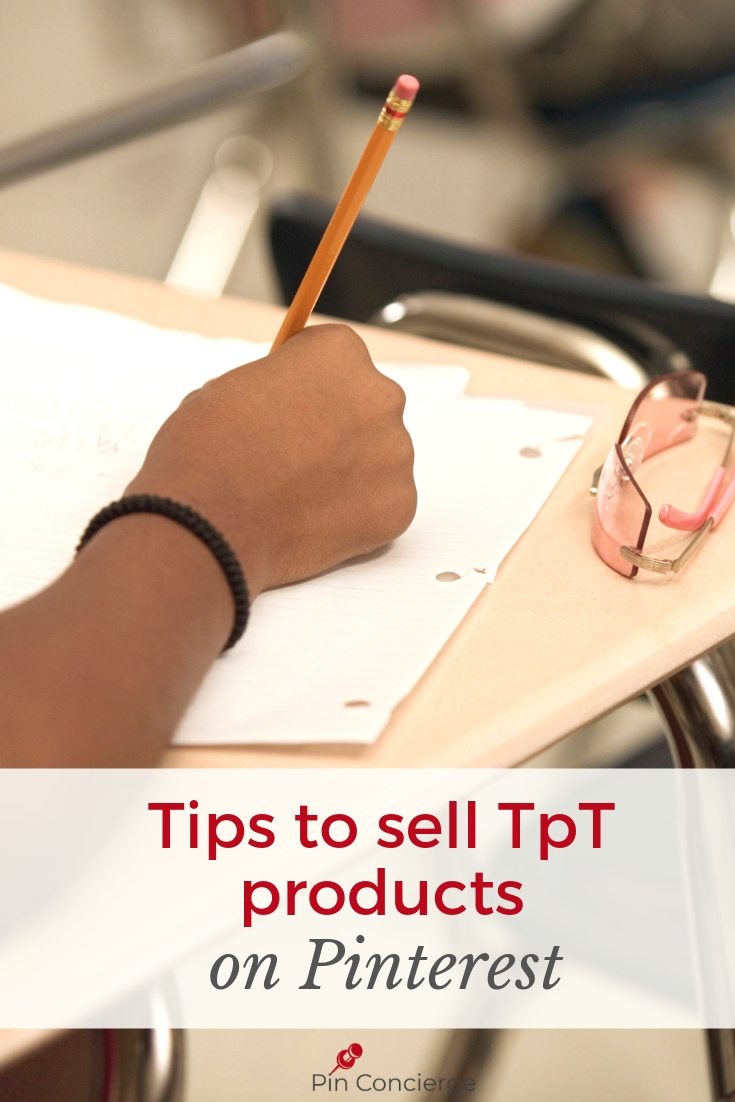 Selling TpT products can work well on Pinterest. But you'll want these tips to increase your sales. With suggestions on Teachers Pay Teachers pinterest marketing advice you can up your game. #pinconcierge #teacherspayteachers