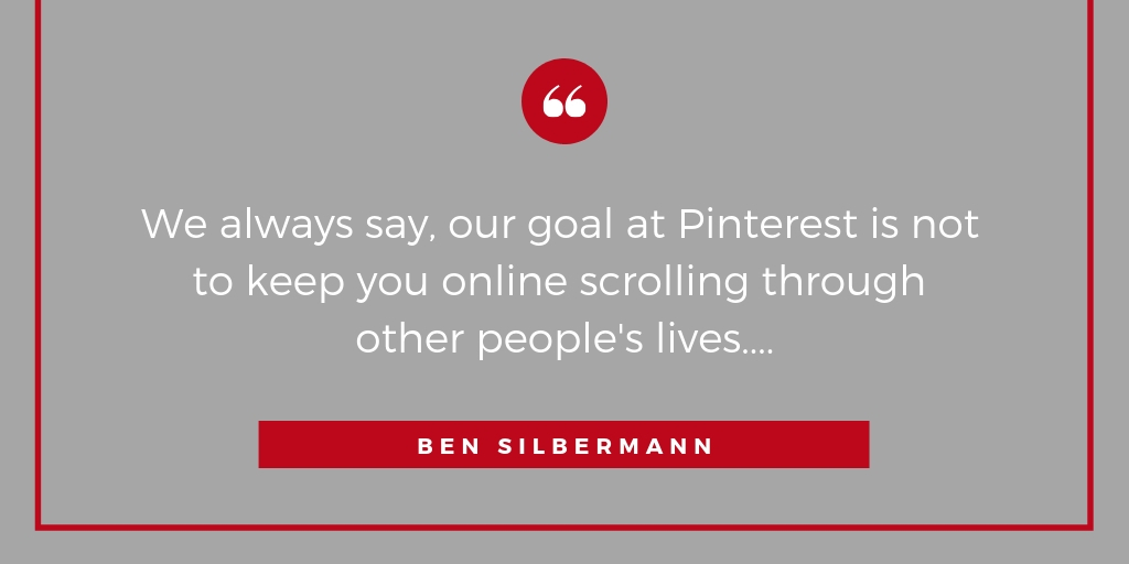 And this is why Pinterest is so loved by it's users.