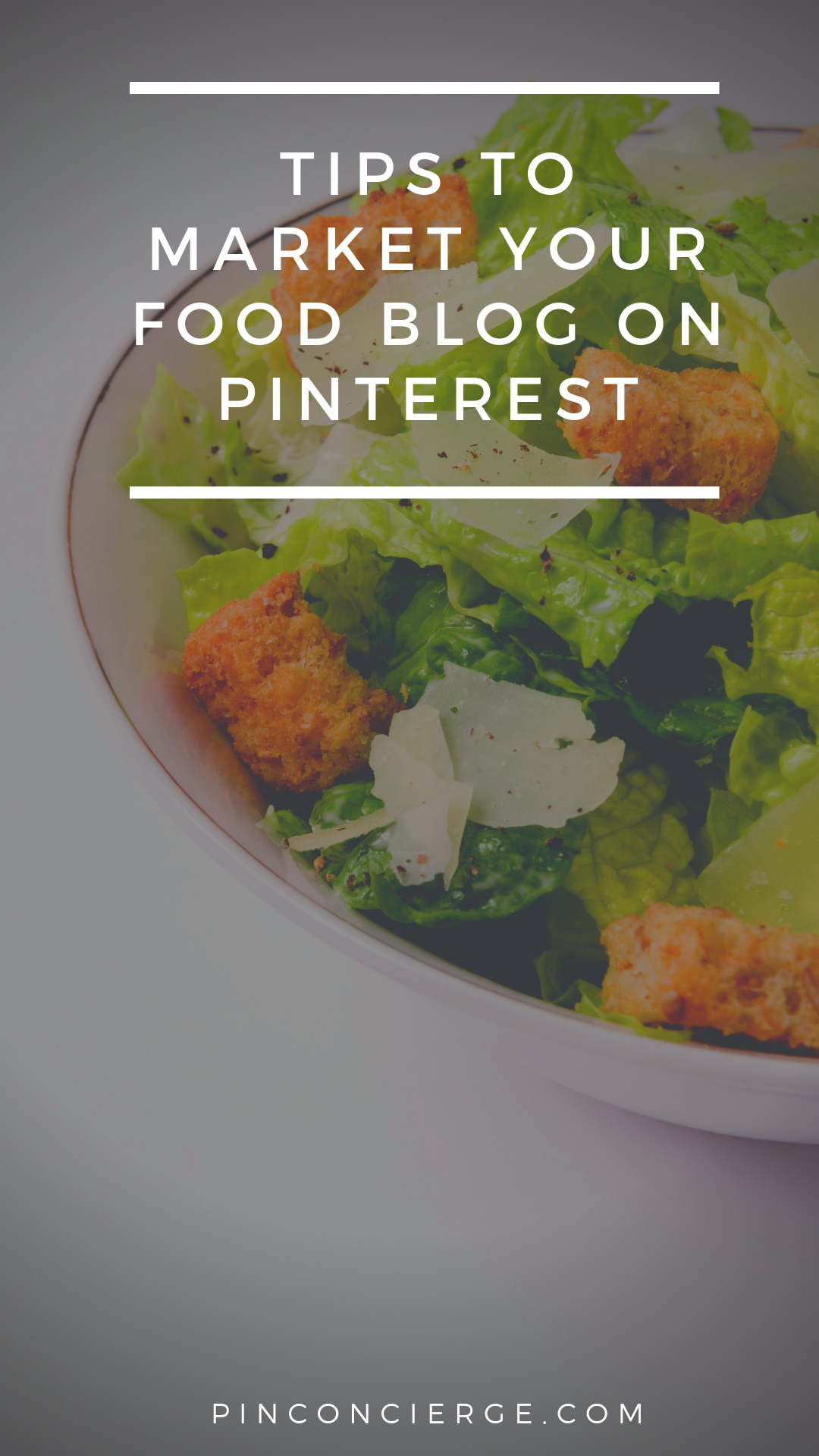 Tips for food bloggers looking to get more traffic from their pinterest accounts on the pin conicerge podcast.  #foodbloggin #pinterestforbloggers
