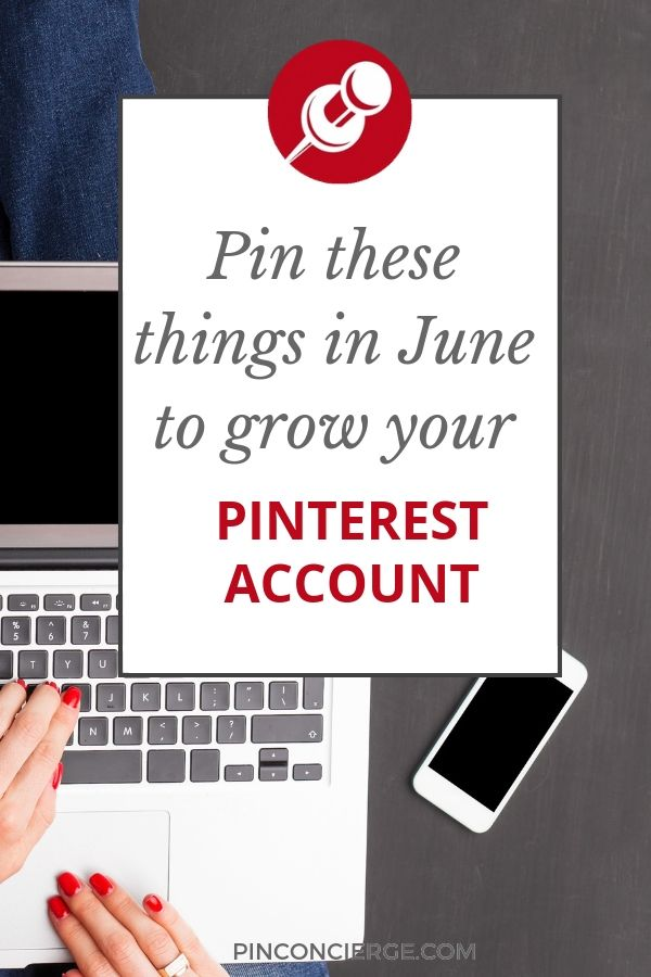 Grow your business's Pinterest account by pinning what pinners want in June. Get tips for every major niche on Pinterest, fashion, food, travel, weddings, parenting and more. #whattopin #pinconcierge #pinterestforbusiness
