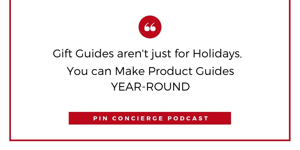 Call them product guides when you use them outside of the holidays.