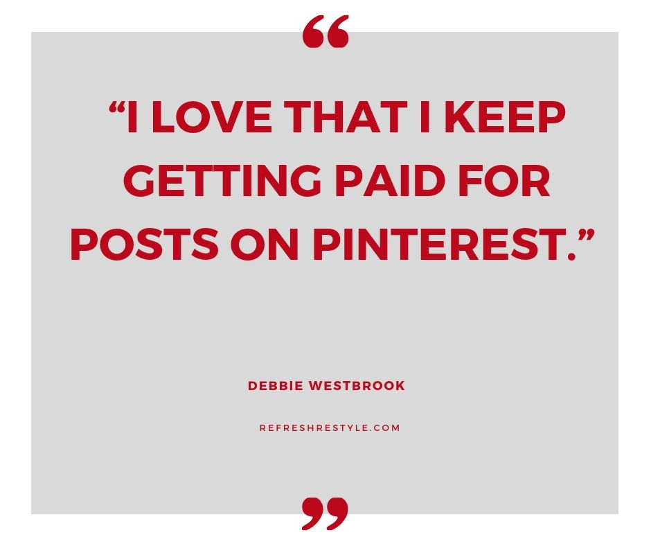 Pinterest just keeps on giving when your pin reaches high in search you keep getting traffic. Debbie has a great tip for this.