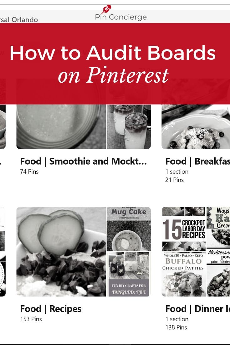Quickly clean up your Pinterest account with these steps and tips for board clean up to improve your pintereset marketing #pinterestaccoutn #pinconcierge #pinterestmarketing